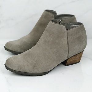 Blondo Grey Suede Ankle Boots Booties 11 Wide